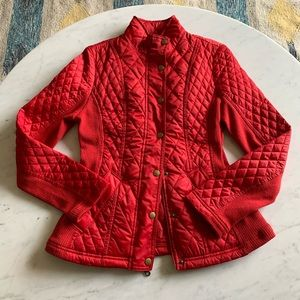 Merona Red Quilted Jacket